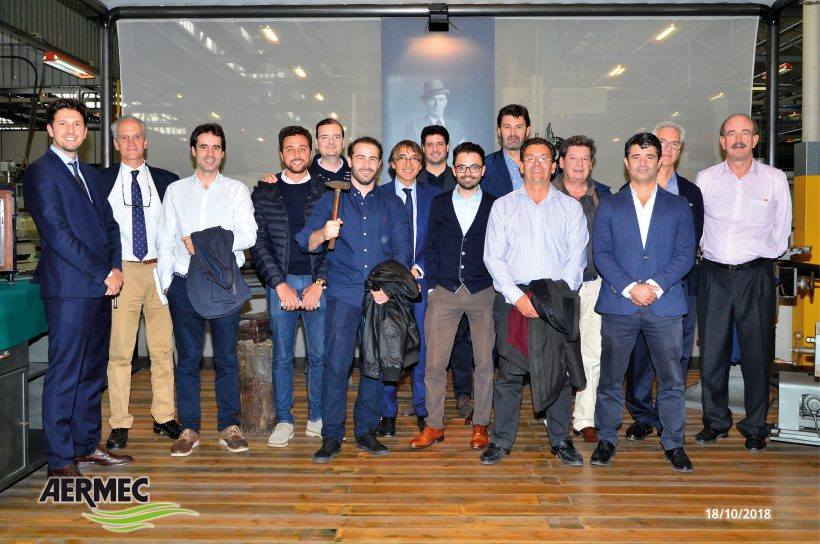 La delegación Centro acompaña AEDICI a visitar la fabrica de Aermec